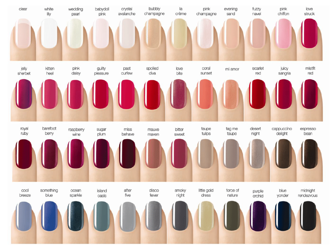 Nail Colors Picture