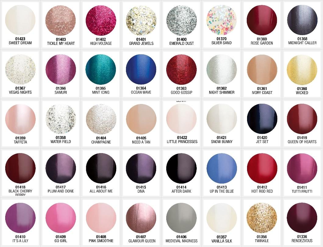 Nail Polish Color Layout