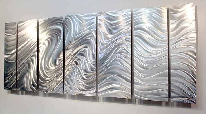 Silver wall Art Idea