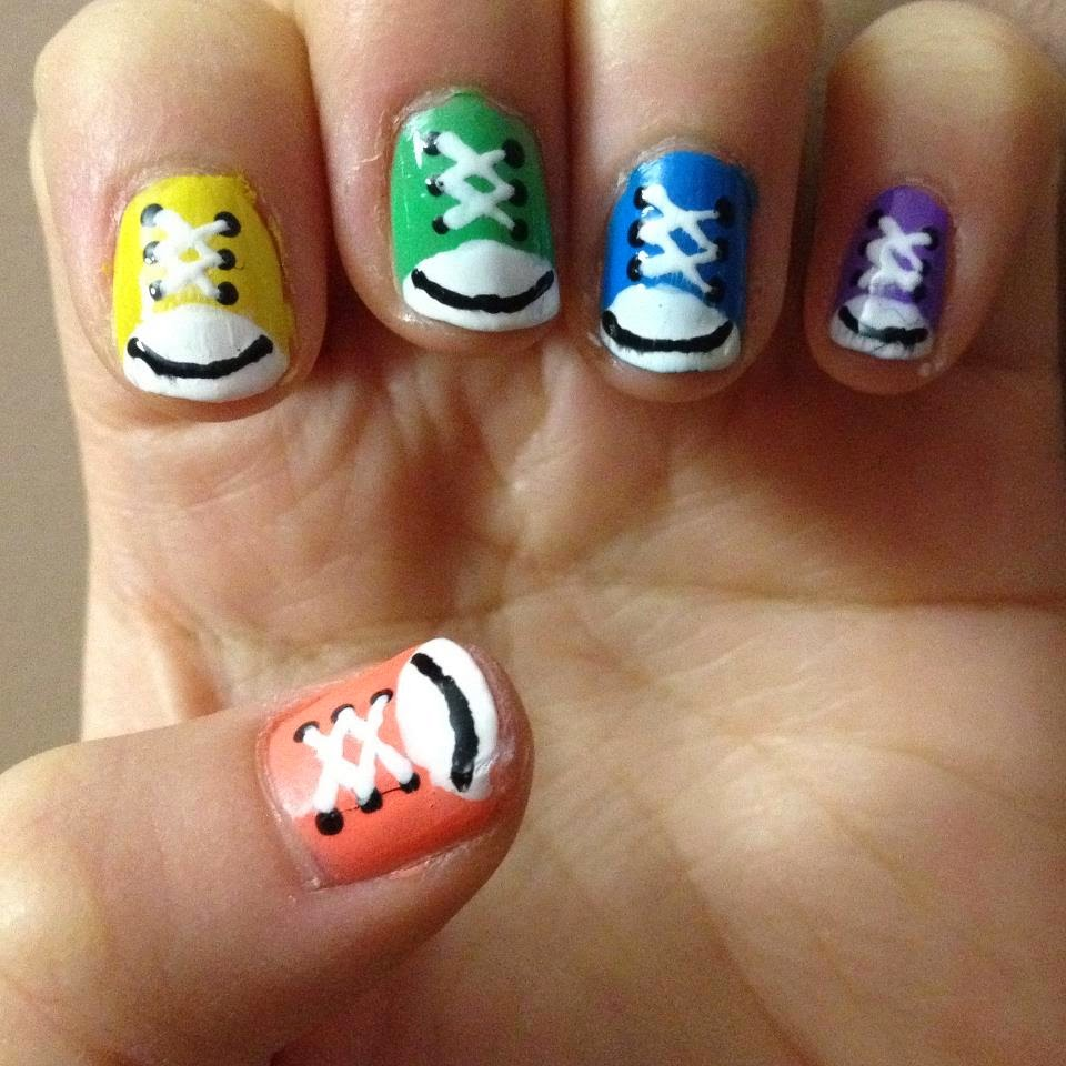 simple and easy nail design idea
