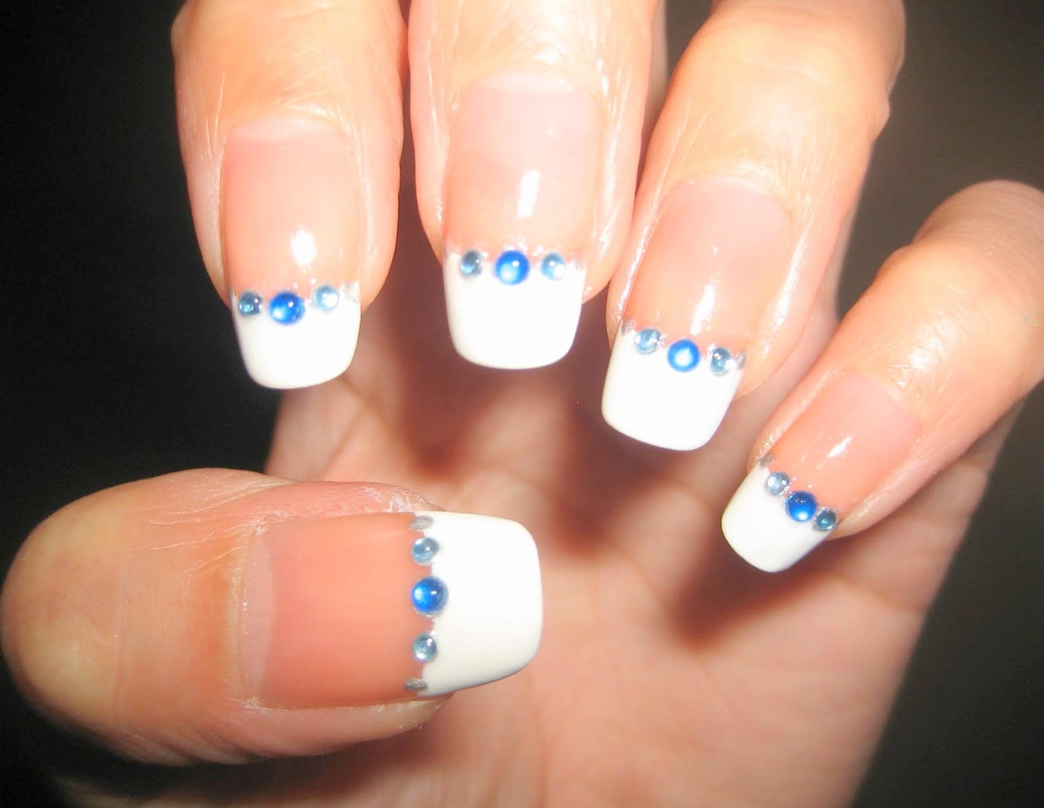 simple and easy nail design picture