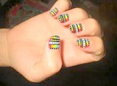 online simple and easy nail design picture