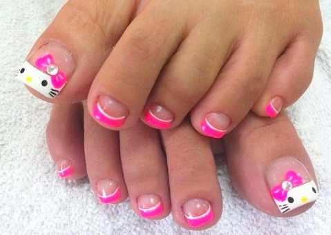Online Toe Nail Design picture