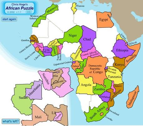 Africa Map Game