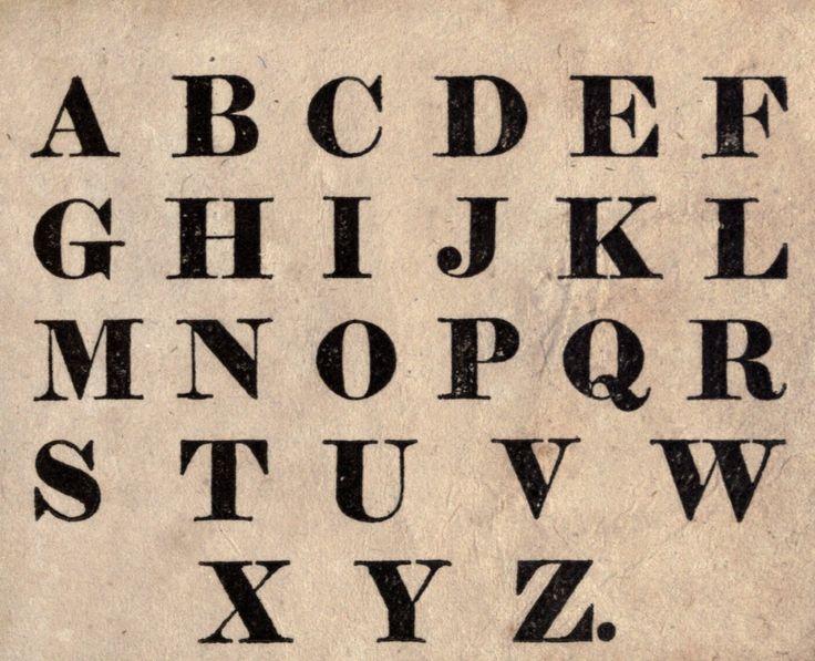 Alphabet Font Block