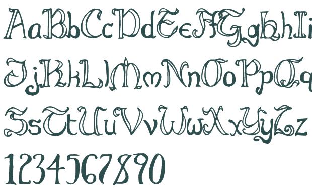 Alphabet Font Bubble