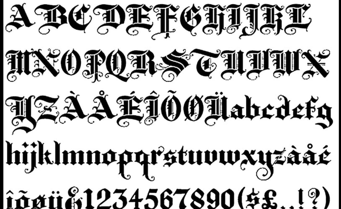 Alphabet Font Calligraphy