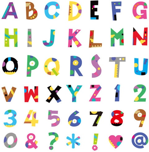 Alphabet Font Color