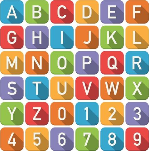 Alphabet Numbers Font