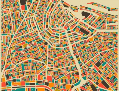Amsterdam City Map Art
