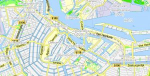 Amsterdam City Map Printable