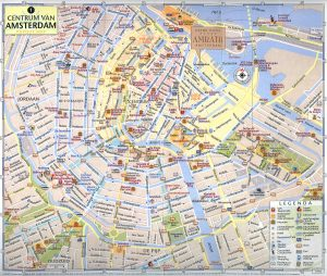 Amsterdam City Map Tourist