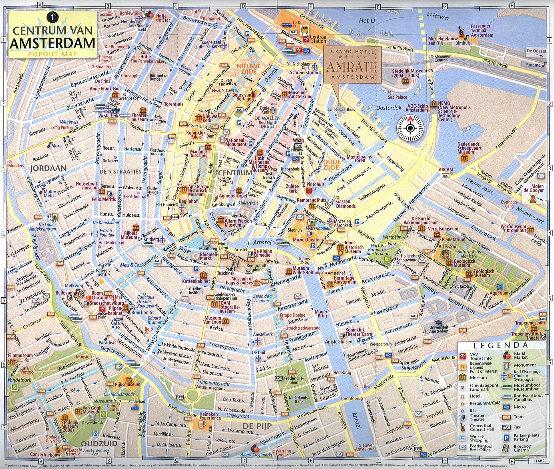 Amsterdam City Map Tourist
