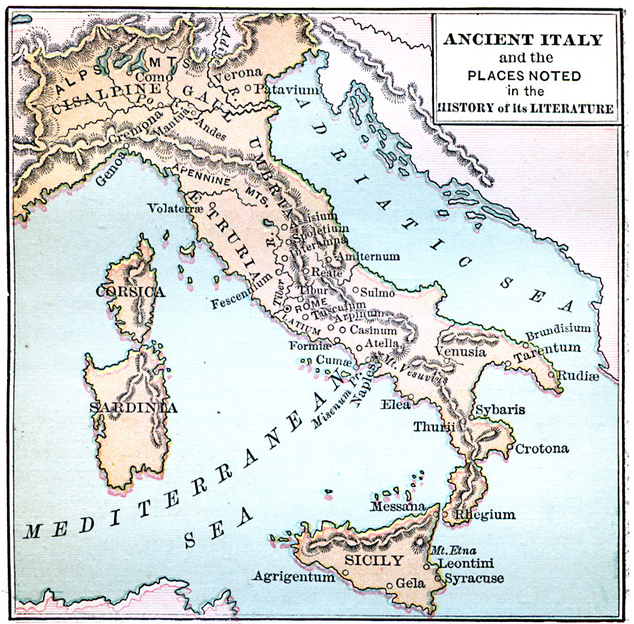 Ancient Italy Cities Map