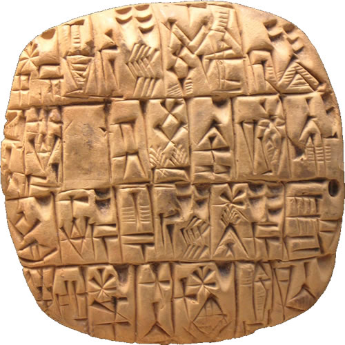 Ancient Sumerian Alphabet