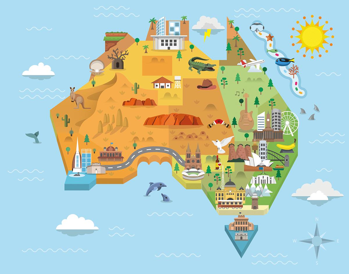 Australia Map Graphic
