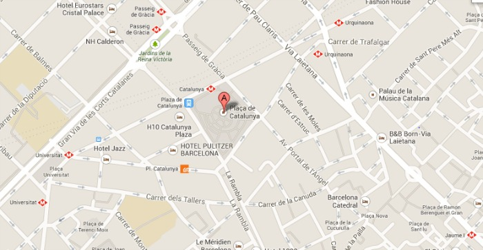 Barcelona City Center Map