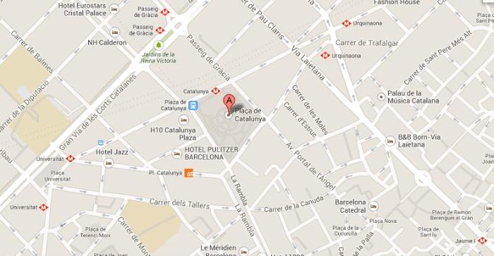Barcelona City Center Map