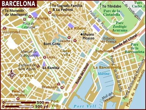 Barcelona City Map Printable