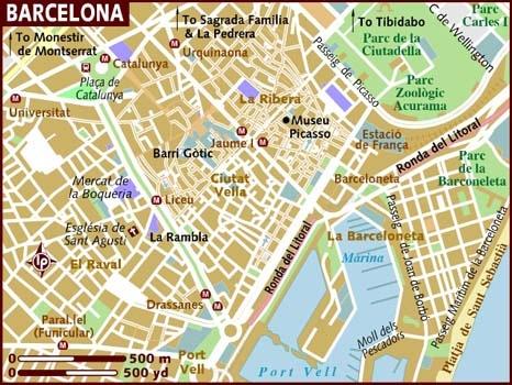 Barcelona City Map Printable