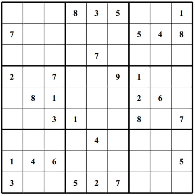 Prinable Sudoku Templates - 15  Free Word, PDF Documents Download ...