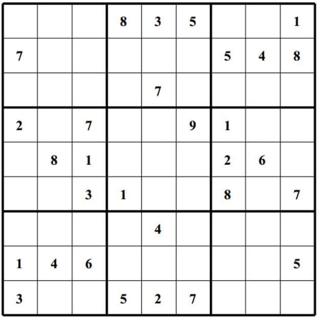Blank Sudoku Board