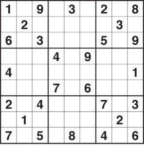 Blank Sudoku Chart