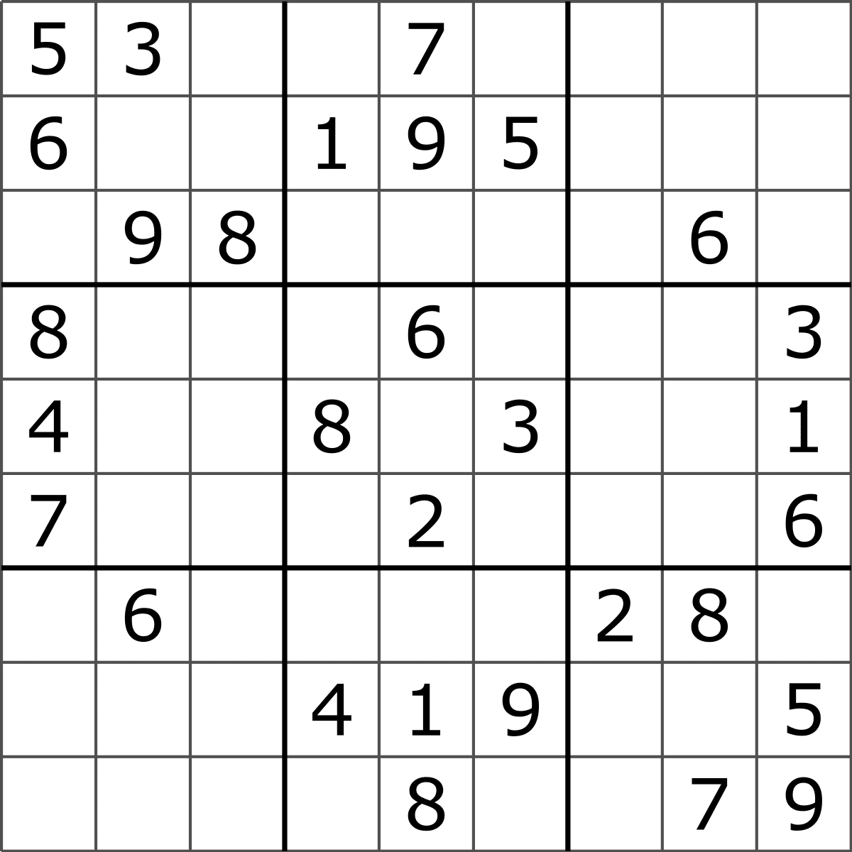 Blank Sudoku Puzzle