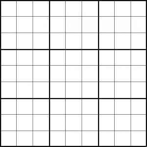 Blank Sudoku Sheet