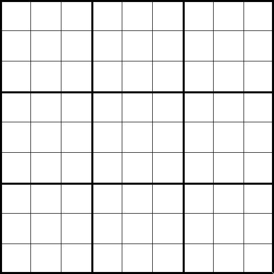 sudoku blank grid Targergoldendragonco – Sudoku Worksheet