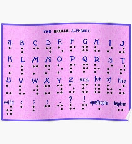 Braille Alphabet Poster