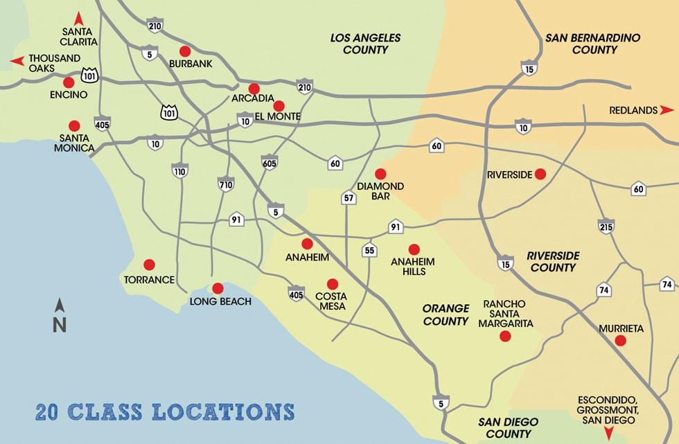 California Map Driving