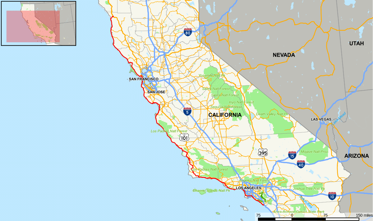 California Map Highways
