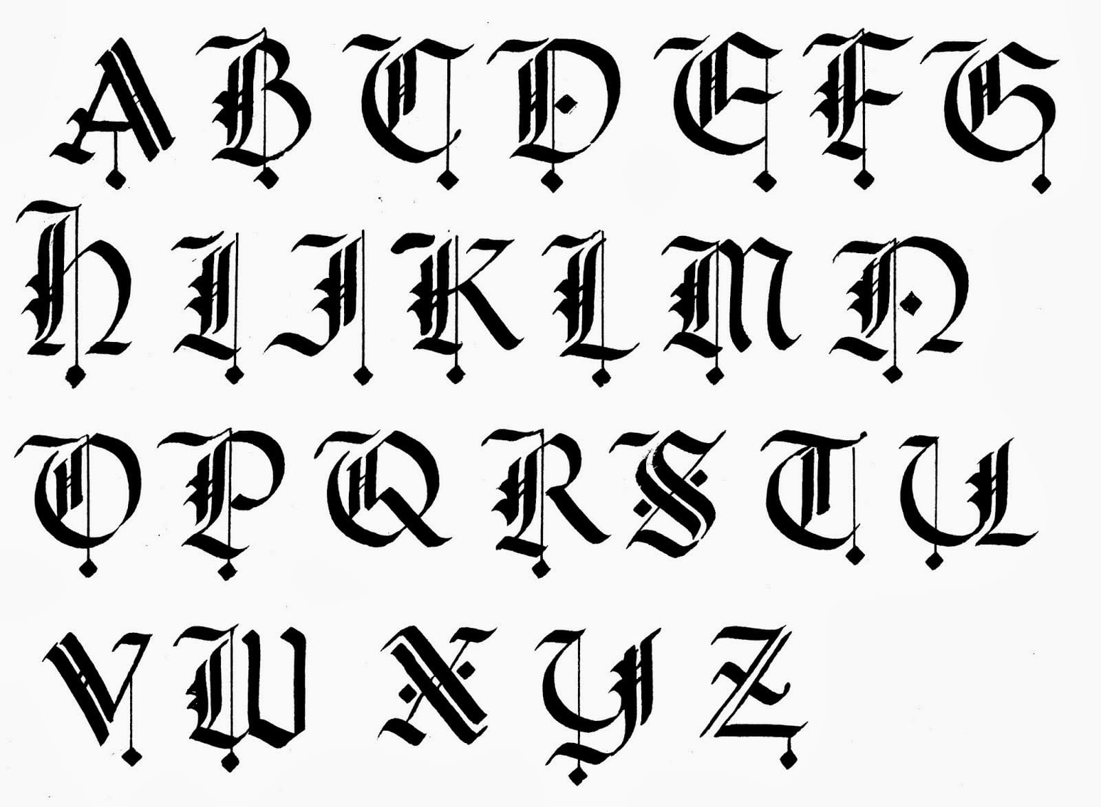 Calligraphy Alphabet A to Z