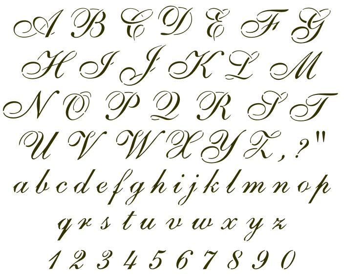 Calligraphy Alphabet Cursive