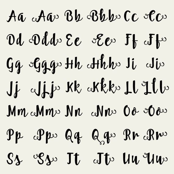Calligraphy Alphabet Letters