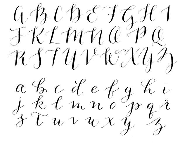 Calligraphy Alphabet Modern