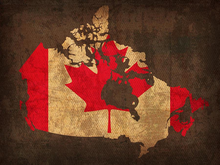 Canada Map Art