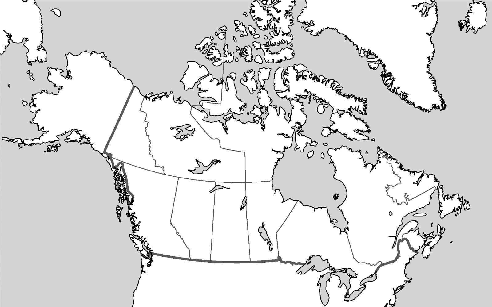 Canada Map Blank