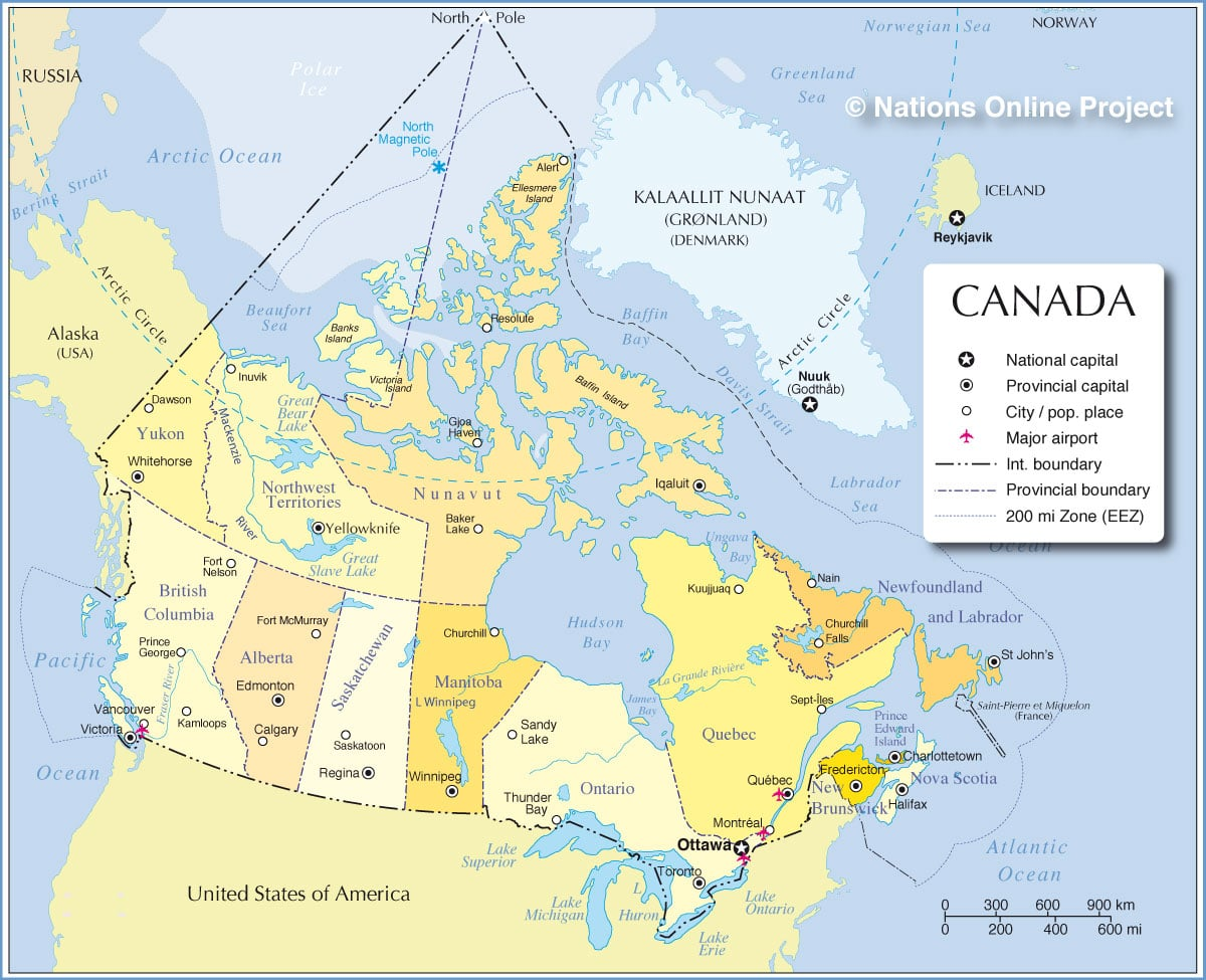 Canada Map Cities
