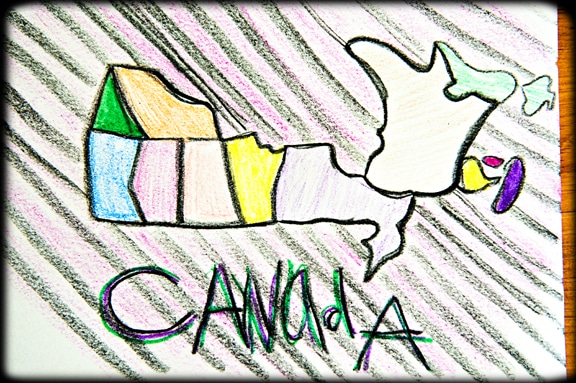 Canada Map Drawing