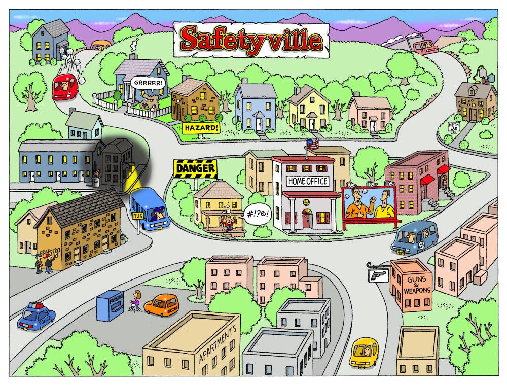 Cartoon Map New York City