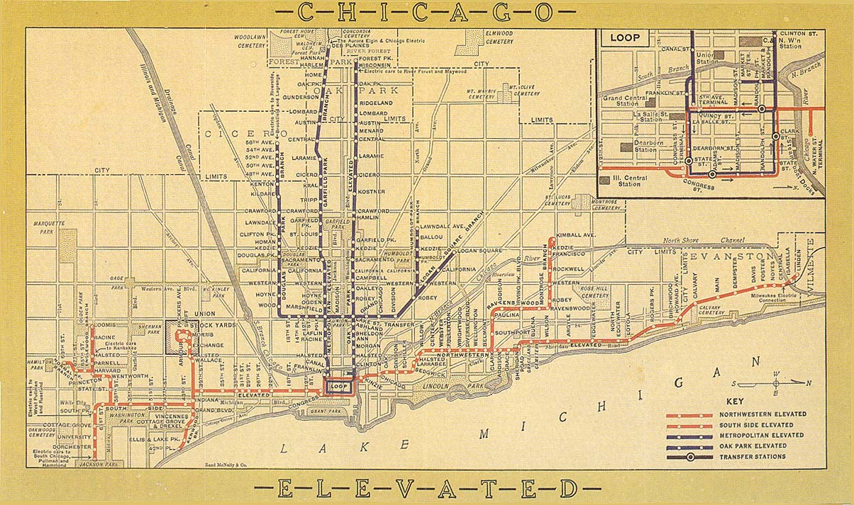 Chicago Street Map 1920