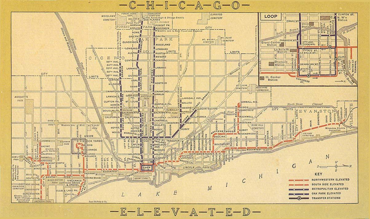 Chicago Street Map 1920