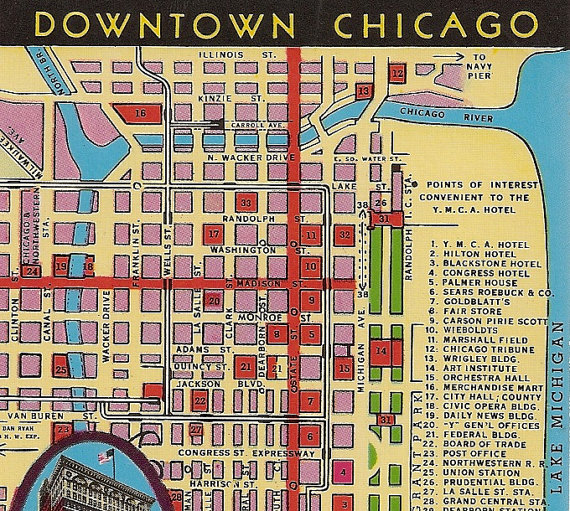 Chicago Street Map Downtown