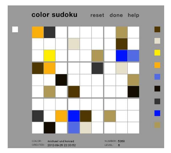 Color Sudoku Online