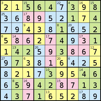 Color Sudoku Solver