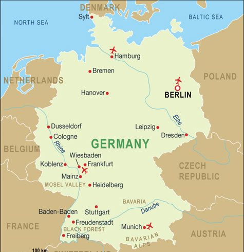Country Map Germany