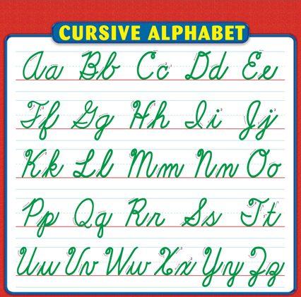 Cursive Alphabet Format