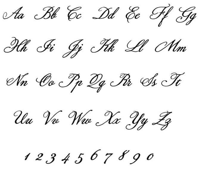 Cursive Alphabet Image